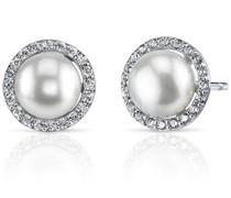 Ohrringe mit Perlen und Zirkonia Manoj
