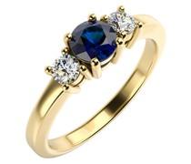 Verlobungsring mit Saphir und Diamanten Clark