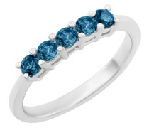 Ring in Weißgold besetzt mit blauen Diamanten Audrey