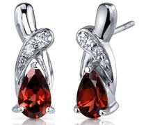 Ohrringe mit Granaten und Zirkonia Destini