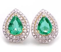 Ohrringe mit Smaragden und Diamanten Katena