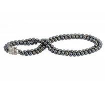 Perlenkette mit schwarzen Perlen Idhitri