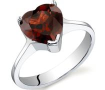 Romantischer Ring aus Silber mit Granat Laqua