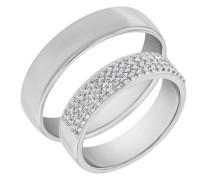 Eheringe mit Eternity Ring und Court Ring Muttial