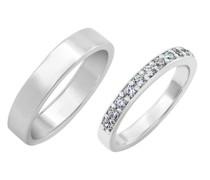 Eternity Ring für Hochzeit und flatter Ring Lars