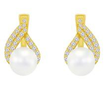 Ohrringe mit Perlen und Zirkonia Zona