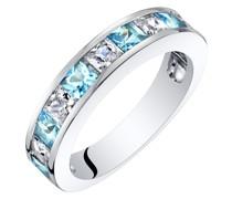 Memoire Ring mit Topasen und Zirkonia Fearne
