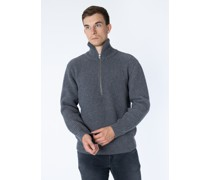 Pullover Zipped Jumper aus Wolle