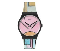Composition In Oval With Color Planes 1 GZ350 Quarz Armbanduhr