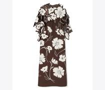 Geblümtes Kleid Mit Applizierten Gänseblümchen