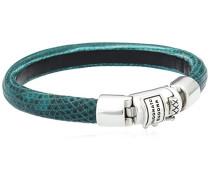 Damen-Armreif Jack Turquoise 925 Silber Leder 18 cm - 565TQ-18