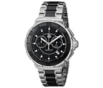 Damen-Armbanduhr Chronograph Quarz Edelstahl CAH1212.BA0862