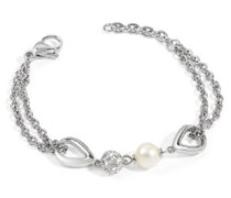 Damen Armband Edelstahl silber SYQ04