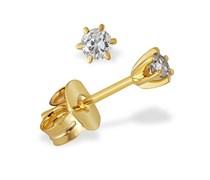 Goldmaid Damen-Ohrstecker Diamant Solitär 6er-Stotzen 585 Gelbgold 2 Brillanten 0,20 ct. So O3988GW