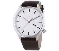 Xen Herren-Armbanduhr XL Analog Quarz Leder XQ0236
