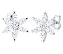 Damen Ohrstecker 925 Sterling Silber Kristall Zirkonia weiß 0310210713