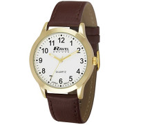 Herren-Armbanduhr  Mens Deluxe Classic Watch on a Genuine Leather Strap. Analog Leder Braun RD002.1GL