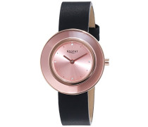 Regent Damen-Armbanduhr XS Analog Quarz Leder 12100582