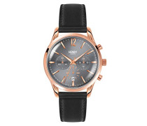 Unisex-Armbanduhr Finchley Chronograph Quarz Leder HL39-CS-0122
