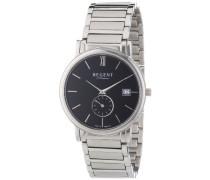Regent Herren-Armbanduhr XL Analog Quarz Edelstahl 11150526