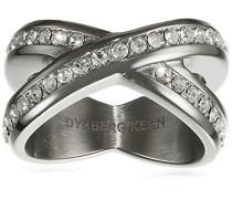 Dyrberg/Kern Damen-Stapelring 15/02 Nagyz Iii Ss Crystal Gr. 57 (18.1) - 337982