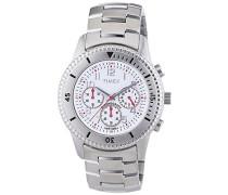 Herren-Armbanduhr XL Chronograph Edelstahl beschichtet T2N160