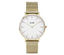Damen Armbanduhr Analog Quarz Edelstahl CL18109