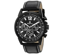 Herren-Armbanduhr Chronograph Quarz Leder BM608-622A