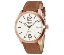 Jet Set Herren-Armbanduhr Milan Analog Quarz Leder J6380R-656