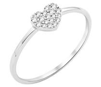 Damen-Ring 9 Karat (375) Weißgold Diamant (0,1 ct MY038R-T50