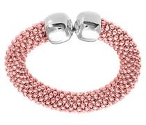 Manschettenknöpfe Sterling-Silber 925 Vergoldet Rotgold Ring-Design Netzstoff-Größe O