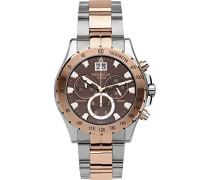 Herren-Armbanduhr Newport Trophy Chronograph Quarz Edelstahl beschichtet 36670/BTR48