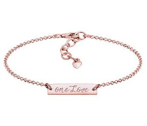 Damen Schildarmband 925 Sterling Silber 16 cm