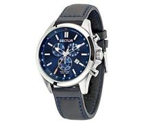 Herren-Armbanduhr 180 Chronograph Quarz Leder R3271690014