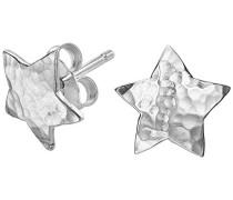 Nomad Ohrstecker, sternförmig, gehämmertes Metall