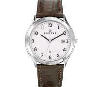 Herren-Armbanduhr Analog Quarz Schokolade 610890