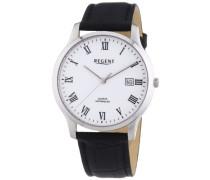 Regent Herren-Armbanduhr XL Analog Quarz Leder 11110661