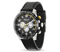 Sector Herren-Armbanduhr XL 850 Analog Quarz Leder R3251575001