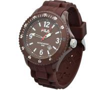 Fila-fa-1023-43-Armbanduhr-Quarz Analog-Zifferblatt braun Armband Silikon braun