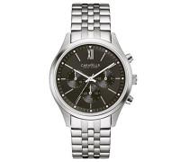 Caravelle New York Herren-Armbanduhr Chronograph Quarz Edelstahl 43A133