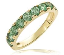 Damen-Ring Memoire 375 Gelbgold 9 Smaragde