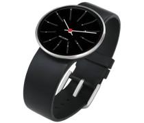 Unisex-Armbanduhr Analog Edelstahl schwarz 43446