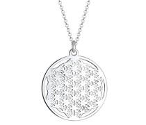 Damen-Halskette Ornament Lebensblume Floral 925 Silber 70 cm - 0111151715_70