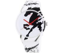 Swatch Unisex-Armbanduhr Chinese New Year 2014 Year Of The Horse Analog Quarz Silikon SUOZ169