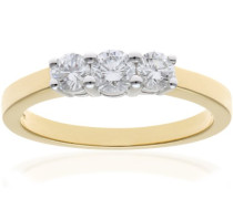 Damen-Ring Gelbgold Diamant 0,5 ct PR03525Y18HSI-P