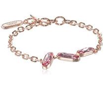 Damen-Armband Bahamas Vergoldet teilvergoldet Kristall rosa 17.0 cm - BBABRR07