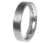 Damen-Ring Titan Diamant weiß