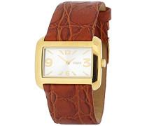 M&M Damen-Armbanduhr Analog Quarz Leder M11707-433