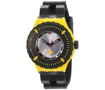 Swatch Herren-Armbanduhr XL Scuba Libre Bumble Dive Analog Quarz Plastik SUUJ100