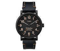 Herren Armbanduhr Analog Quarz Leder TW2P59000